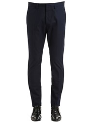 Dsquared 16Cm Hockney Cotton Twill Chino Pants Dark Blue