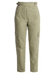 Rachel Comey Roam High Rise Cotton Twill Trousers Khaki