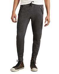 John Varvatos Star Usa Melange Rib Zip Pocket Jogger Sweatpants Black