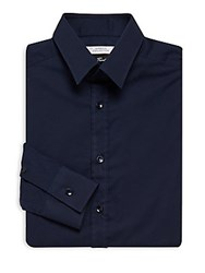 Versace Camicia Trend Point Collar Shirt Navy
