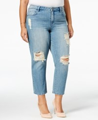 Rachel Roy Curvy Trendy Plus Size Ripped Jeans Only At Macy's Babylon Wash