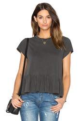 The Great Ruffle Tee Charcoal