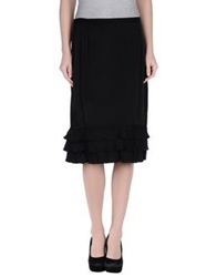 Marella Knee Length Skirts Black