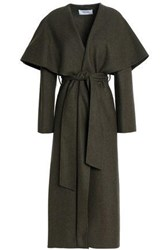 Pringle Belted Brushed Wool Coat Army Green