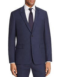 Theory Chambers Tailored Gingham Slim Fit Suit Separate Sport Coat Navy