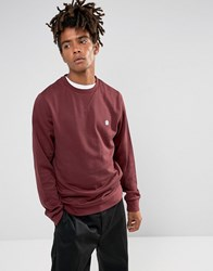 Element Cornell Logo Sweat In Burgundy Red