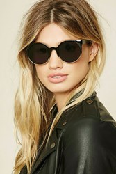 Forever 21 Browline Cat Eye Sunglasses Black Grey