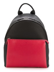 Fendi Two Tone Backpack Black