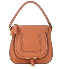 Chloe Marcie Medium Leather Tote Brown