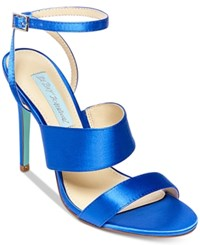 Blue By Betsey Johnson Jenna Strappy Evening Sandals Women's Shoes Blue