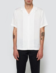 Saturdays Surf Nyc Canty Stripe S S Tee Ivory