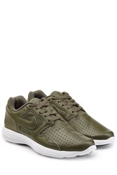Nike Perforated Leather Sneakers Multicolor