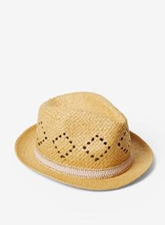 Dorothy Perkins Natural Lead In Trilby Hat White