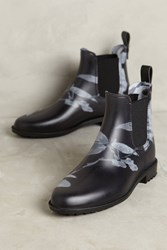 Anthropologie Joules Rockingham Printed Chelsea Rain Boots Black Motif