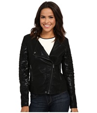 Blank Nyc Vegan Leather Moto Jacket Kiss And Tell Women's Jacket Black