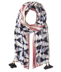 San Diego Hat Company Bss1715 Woven Tie Dye Scarf With Tassels Navy Scarves