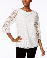 Charter Club Lace Mesh Swing Top Only At Macy's Cloud