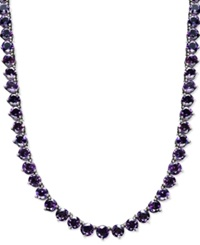 Macy's Sterling Silver Necklace Amethyst Necklace 30 Ct. T.W.