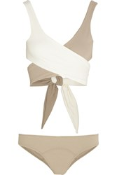 Lisa Marie Fernandez The Marie Louise Two Tone Wrap Around Bikini Nude