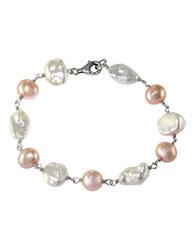 Effy Multi Color Pearl And Sterling Silver Bracelet Multicolor Pearl