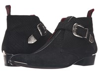 Jeffery West Monk Chukka Black Silver Men's Shoes