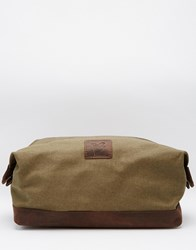 Lyle And Scott Canvas Wash Bag Brown