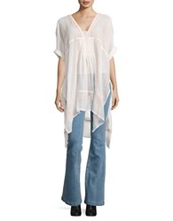 Free People V Neck Sheer Cover Up Top Copper