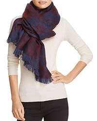 Aqua Bias Plaid Blanket Scarf 100 Exclusive Burgundy Navy