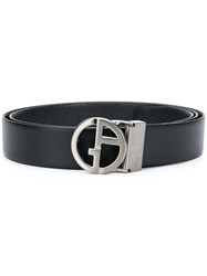 Giorgio Armani Adjustable Buckle Belt Black