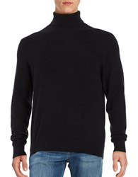 Black Brown Turtleneck Cashmere Sweater Black