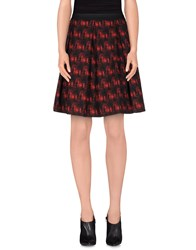 Monocrom Skirts Knee Length Skirts Women Red