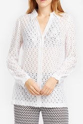 Missoni Women S Button Down Crochet Shirt Boutique1 White