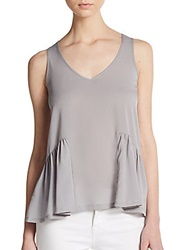 French Connection Polly Peplum Tank Top Shale