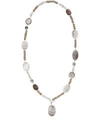 Viyella Shell And Facet Drop Necklace
