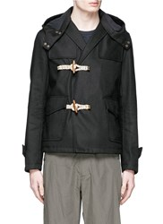 Kolor Toggle Front Double Face Jacket Black