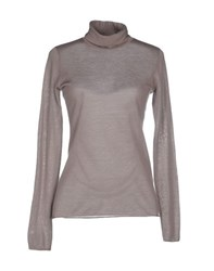 Kangra Cashmere Knitwear Turtlenecks Women Grey