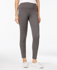 Styleandco. Style Co. Fleece Yoga Leggings Only At Macy's Charcoal Heather