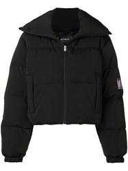 Misbhv Embroidered Logo Puffer Jacket Black