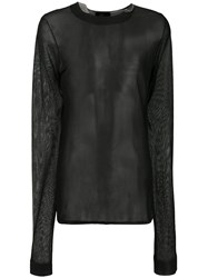 Lost And Found Ria Dunn Sheer Sweater Viscose Cotton Polyamide Black