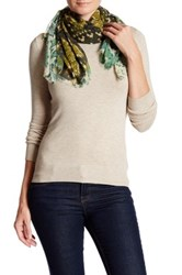 Collection Xiix Sun Snake Printed Square Scarf Green