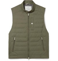 Brunello Cucinelli Quilted Shell Gilet Green