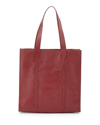 Isabella Fiore Isabella Large Leather Tote Bag Garnet