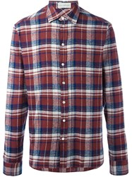 Faith Connexion Plaid Button Down Shirt Red