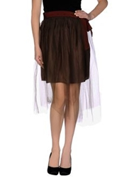 So Nice 3 4 Length Skirts Dark Brown