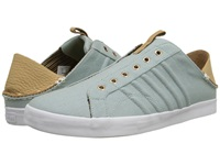 K Swiss By Billy Reid Belmont Slo Cl Blue Surf Canvas Sheepskin Leather Men's Shoes Green