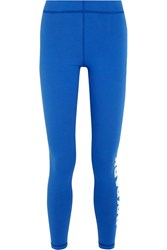 Ivy Park Printed Stretch Jersey Leggings Bright Blue