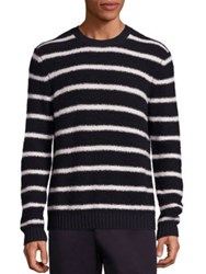Vince Wool Blend Textured Knit Sweater Costal Pearl