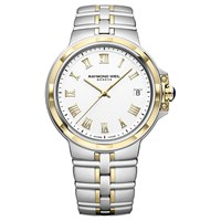 Raymond Weil 5580 Stp 00308 'S Parsifal Date Two Tone Bracelet Strap Watch Silver Gold