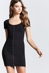 Forever 21 Ribbed Snap Button Mini Dress