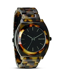 Nixon The Time Teller Acetate Watch 40Mm Tortoise